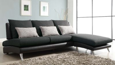 Codman Reversible Sectional Sofa Chaise - Dark Grey - Polyester