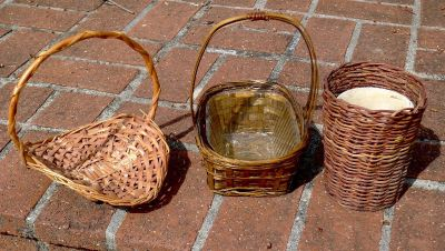 3 Wicker Baskets For Plants and Display