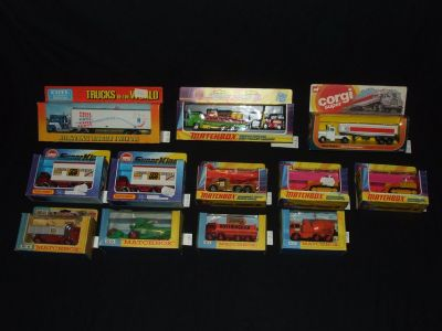 Vintage Diecast Cars Trucks Lesney Matchbox Corgi Ertl / Original Boxes