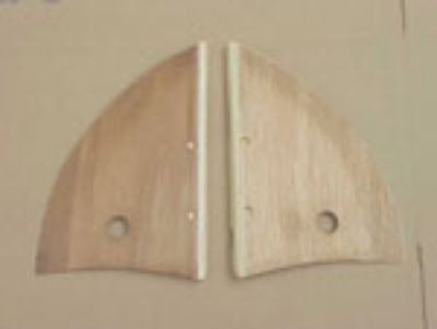 50-64 CONVERTIBLE QUALITY wood hinge covers new