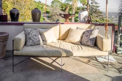 Outdoor Chaise - steel frame