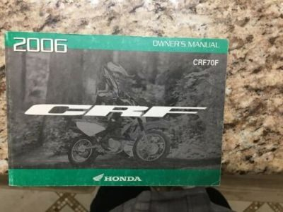2006 honda crf70f owners manual like new