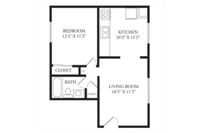 1 bedroom 1 bathroom apartment available