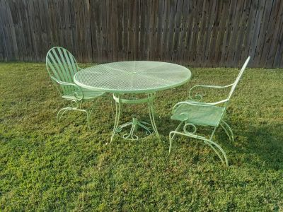 Apple Green / 4 Piece Rocking Patio Set