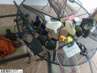 For Sale: Paintball gun and gear