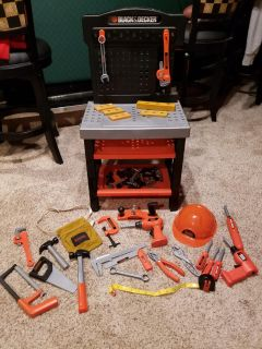 Black & Decker Toy Workbench and Tools