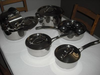 Gordon Ramsay by Royal Doulton All-Clad 16 pieces Cookware Set (Stainless Steel)