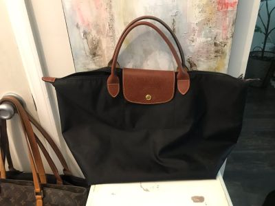 Medium Longchamp Le Pliage Top Handle Tote