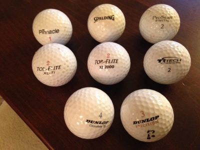 Slightly Used Golf Balls