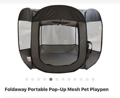 Portable pop up Mesh Pet Play Pen/With Carrying Case