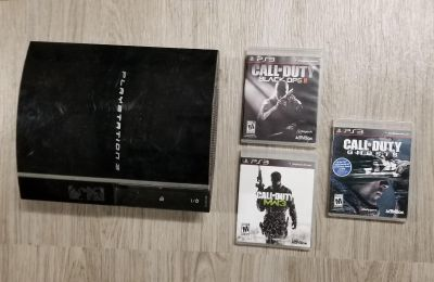 Ps3 console and call of duty games