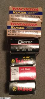 For Sale: 40 S&W ammo 300 rounds $60 815-931-8722
