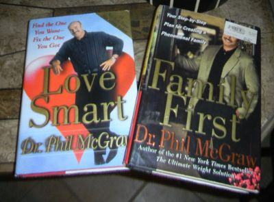 2 Dr. Phil Book Lot Family First & Love Smart