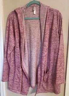 Hooded French Terry jacket women large