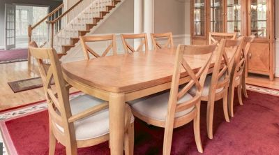 Elegant Dining Room Table and 8 Chairs