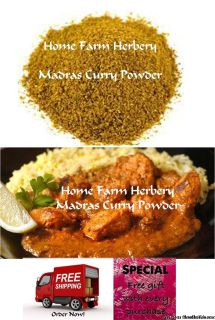 Madras Curry Powder, Order this exotic blend NOW, FREE shipping & a free gift