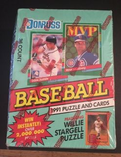 Donruss 1991 Series 2 Baseball Puzzle And Card Set 36 Count - Sealed