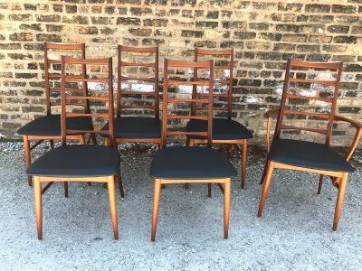 Danish Modern Teak Dining Chairs by Niels Koefoeds