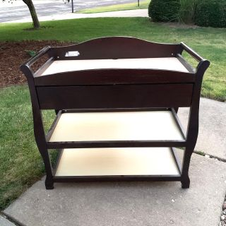 Dark Wood Changing Table