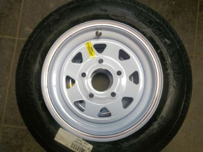 """Buy TWO 480x12 Load Range C Carlisle Boat Trailer Tires on 5 on 4 1/2"""" Wheels motorcycle in Dyersburg, Tennessee, United States, for US $95.00"""