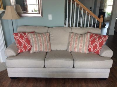 Cream color couch: only a year old!