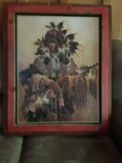 Indian Chief picture with frame