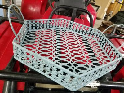 Ice blue table basket