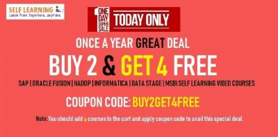 BUY 2 GET 4 FREE VIDEO Courses FREE   Under @ 198 $ - SAP   Oralce Fusion   MSBI   Data Warehousing