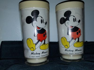 Vintage Mickey Mouse thermos cups