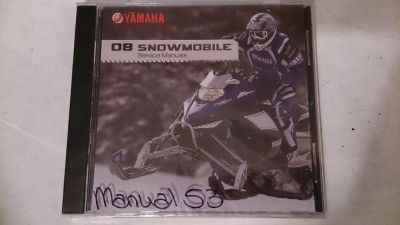 Purchase 08 Yamaha Snowmobile PC Disc Service Manual *NEW* motorcycle in Richlandtown, Pennsylvania, US, for US $19.99