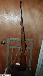 For Sale: Savage Winchester model 11 .243 with engraved wooden stock