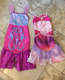 Two BARBIE Mermaid Dress Up Play Clothes Size 4-6X