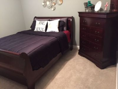 Bedroom Set (Queen Size) plus Chest of Drawers & Armoire
