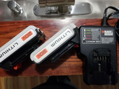 2 Black and Decker 20v batteries with charger