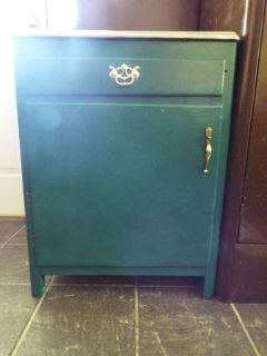 Cabinet*Vintage*Stainless Steel Top*Ex Cond