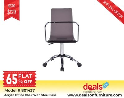 Acrylic Office Chair With Steel Base for sale | Buy Furniture at wholesale price up to 80% Off