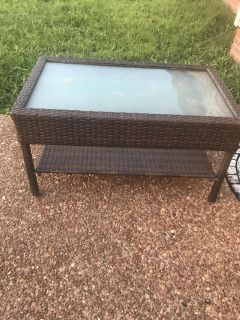 Outside brown table $25. Cross posted
