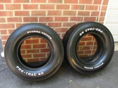 Purchase VINTAGE PRO-TRAC RACING PROFILE L60-15 TIRES DAY 2 MUSCLE CAR STREET ROD motorcycle in East Earl, Pennsylvania, United States, for US $500.00
