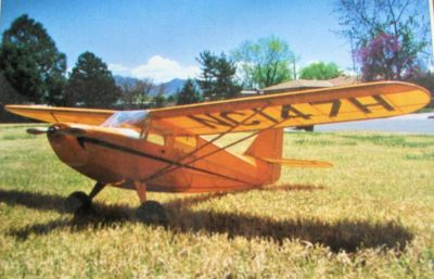 Stinson Voyager Wooden R/C Model Airplane Kit, new in original box. Needs Electric R/C