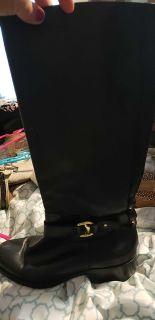 Black Ralph Lauren riding boots size 8