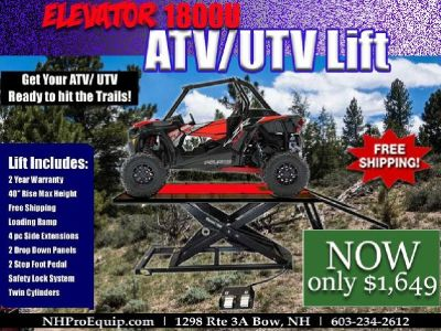 ELEVATOR 1800U ATV UTV LIFT TABLE, INCLUDES SIDE EXTENSION KIT