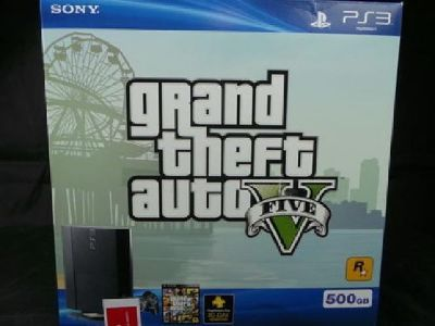 Sony Playstation 3 PS3 GTA V Grand Theft Auto V Bundle 500GB + Extras