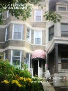 Fabulous 6 BR 3 BA house for rent - Columbia Heights