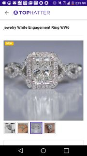 4 carat cz sterling silver ring