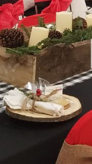 Rustic Wooden Slices Set of 4