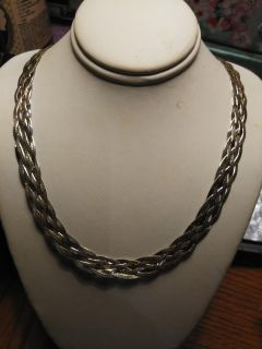 Vintage Braided Sterling Necklace