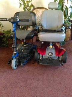 Mobility scooter and electric wheelchair