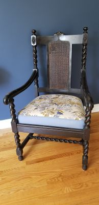 Vintage Jacobean Barley Twist Chair