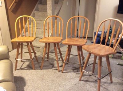 4 Counter height bar stools.