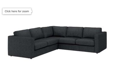 Matching Sectional & Armchair (Dark Grey)